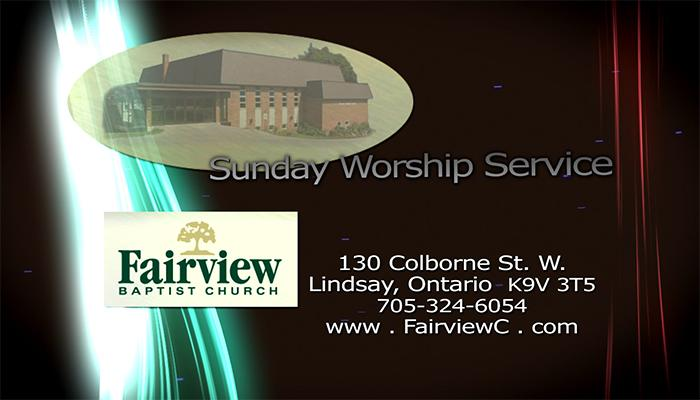 Fairview Baptist Sunday Service
